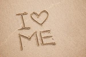 I-Love-Me-written-in-sand